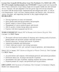 Resume Templates: Nicu Nurse