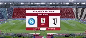 Finale Coppa Italia, Napoli-Juventus con tifosi e bandierine virtuali sugli  spalti