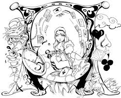 Small Picture Alice In Wonderland Coloring Pages Alice In Wonderland Color