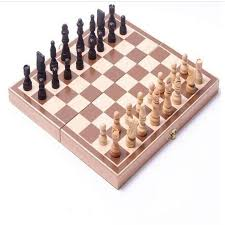 Wooden Board Game Sets 100X Complete Travel Wooden Board Box Chess Set Portable Folding 66