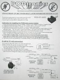 wiring diagram norton owners club website need to know whether you have a single or three phase alternator and order accordingly i would imagine it comes a wiring diagram