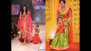 Mother Designer Chennai Contemporary Mother Daughter Dress For Wedding Indian