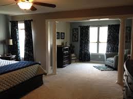 Master Bedroom Sitting Area Furniture Columns In The Master Bedroom Separate The Sitting Area From The