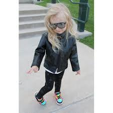 toddler snake faux leather jacket black viper 3t