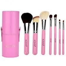 acevivi 7 pcs premium kabuki pink makeup brush set face powder foundation eye cosmetic brush
