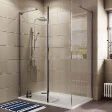 Cooke & Lewis Luxuriant Rectangular LH Shower Enclosure, Tray & Waste Pack  with Walk-In Entry (W)1400mm (D)880mm | Departments | DIY at B&Q
