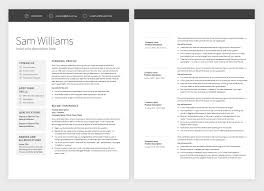 Classic Template Pure Resume Interesting Resume 2 Pages