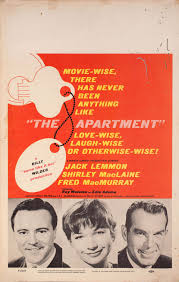 The Apartment 1960 Us Window Card Poster