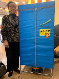 Máy sấy quần áo JEJU JS 08-868 đèn UV, điều khiển từ xa - tủ vuông