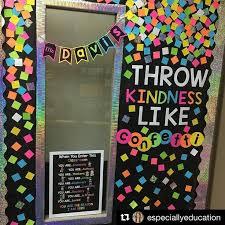 Classroom Design Ideas throw kindness around like confetti amazing door or bulletin board decor for the classroom