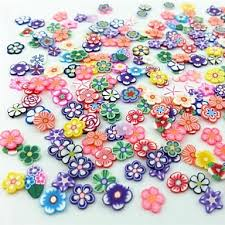 300 Pcs Sada Na Nehty Ovoce Fimo Plátky Nail Art Manikúra Pedikúra Denní Květina Svatba Módní