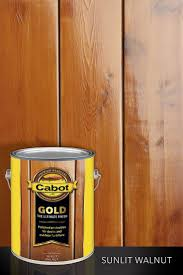 One of four wood stain colors cabot gold sunlit walnut brings the look of your hardwood floors outdoors and protects like the finest wood stain