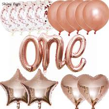 Blue and Pink First Birthday Balloons Confetti Balloons Royal <b>Baby</b> ...