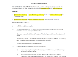 Breach Of Employment Contract Employment Contract Template UK Template Agreements And Sample 21