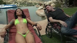 Free porn blowjob deck chair