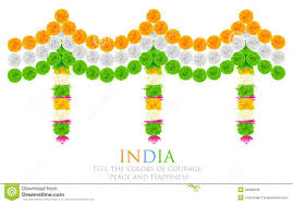 Indian Festival Decoration India Tricolor Flower Decoration Royalty Free Stock Image Image