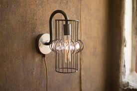 industrial modern lighting. Industrial Modern Plug In Wall Sconce With Gems Lighting R
