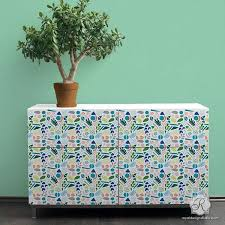 stenciling furniture ideas. cute and colorful furniture stencils for painted custom upcycle royal design studio stenciling ideas