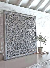 white wood wall art carvings carving carved decor large