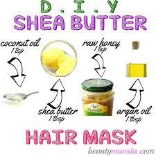 homemade shea er hair mask for