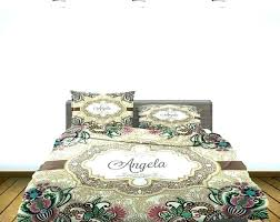 monogrammed bedding set personalized sets design monogram comforter custom special all 4 from