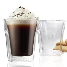 danesco double wall cappuccino glass set of 2 6 8oz 200ml