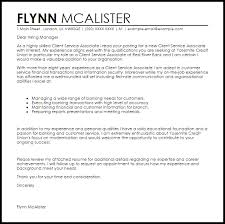 Sample Customer Service Cover Letters Client Service Associate Cover Letter Sample Cover Letter