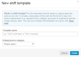 shift templates set up a shift template driver exchange
