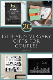 50 good 15th wedding anniversary gift ideas for him her