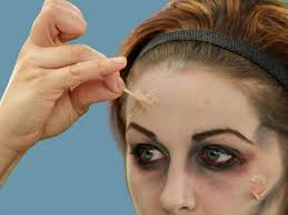 tutorial makeup use liquid latex to make your zombie face even ier and create fake s apply