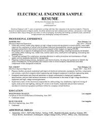 Resu Unique Electrical Engineering Internship Resume Sample Free
