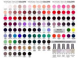 Morgan Taylor Size Chart Carta De Color Esmalte Morgan Taylor In 2019 Morgan Taylor