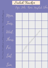 Salah Chart My Salah Tracker Free Printable Journal To Track Salah