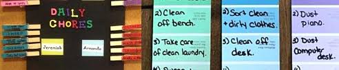 Daily Chore Chart Ideas Chore Board Ideas Desprenadal Info