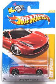 Amazon Com Hot Wheels 2012 New Models 25 50 025 Ferrari 458 Spider Red Convertible Toys Games