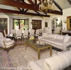great room main seating area with garden of paradise laver kirman carpet