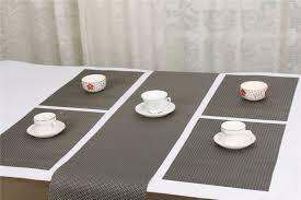 ukuran 20x135 cm meja makan pelari warna perak pvc hiasi taplak meja dapur