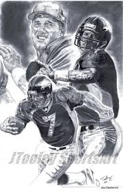 Denver Broncos John Elway Art Poster