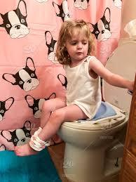 Cute Little Girl Sitting On Potty People Children Child