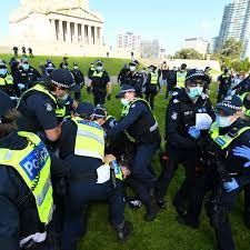 The police issued at least 176 infringement. Melbourne Anti Lockdown Protests At Least 15 Arrested In Violent Clashes With Police Melbourne The Guardian