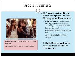 romeo and juliet by william shakespeare ppt  act 1 scene 5 h nurse also identifies romeo for juliet he is