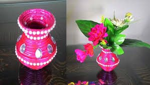 News Paper Flower Vase How To Make Newspaper Flower Vase Pepes How Tos