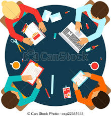 round table discussion clipart business team top view business men team office meeting clipart