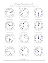 Sketching Time On Analog Clocks In 5 Minute Intervals A Snappy ...