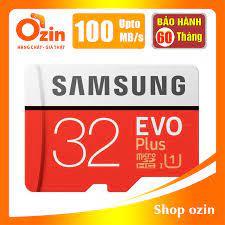 RẺ VÔ ĐỊCH] Thẻ nhớ micro SD samsung Evo plus 128GB 64GB 32GB 100MB/s 4k  video 95 chính hãng 369,000đ