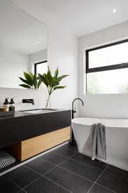 modern black white. Modern Black And White Bathroom With Tile U0026 Matte Plumbing Fixtures C