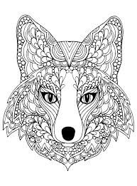 If he can easily cope, offer him something more complicated. Beutiful Fox Head Foxes Adult Coloring Pages