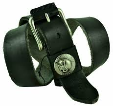 details about harley davidson mens thick leather belt with skul birthday gift black 028