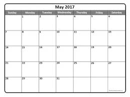 calendar for the month of may printable monthly calendar may 2017 printable online calendar