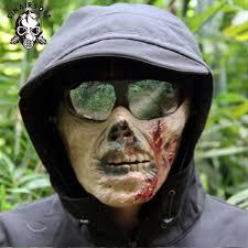 <b>Halloween</b> Scary Mask Tactical Zombie Skeleton <b>Skull Bone</b> Half ...